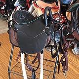 KDKDA Sillas de Montar Occidental Caballo Pony Establece sintético Cabezada REINS pretal Pad niños a Caballo Corto de una Silla Completa Conjunto de Accesorios hípicos Enano de una Silla