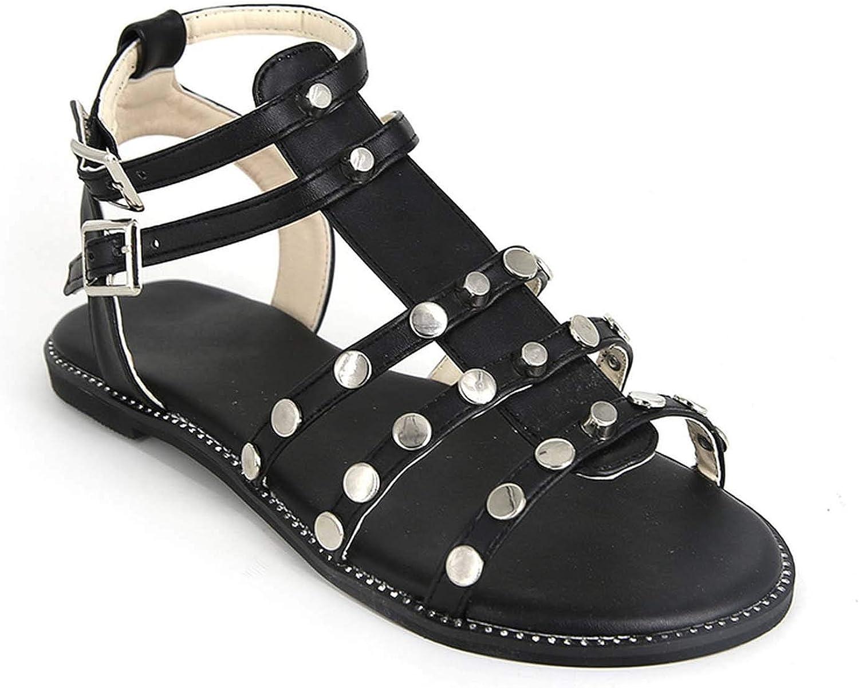 HuangKang Women's shoes Sandals 2019 New Women's shoes Women's Summer Comfortable Sandals Women's Flat Sandals