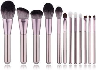 Yoseng Professional 12 Pieces Makeup Brush Set Premium Synthetic Kabuki Foundation Blending Blush Concealer Eye Face Liquid Powder Cream Cosmetics Brushes Kit