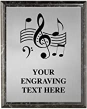 Music Plaques, Personalized Music Note Trophy Plaque Award, Great Custom Engraved Musical Awards Prime