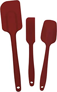 Rose Levy Beranbaum Signature Series RSS001 Rose's Trinity Set of 3 Spatulas Needed by Every Home Baker and Chef, 3 Sizes, Red