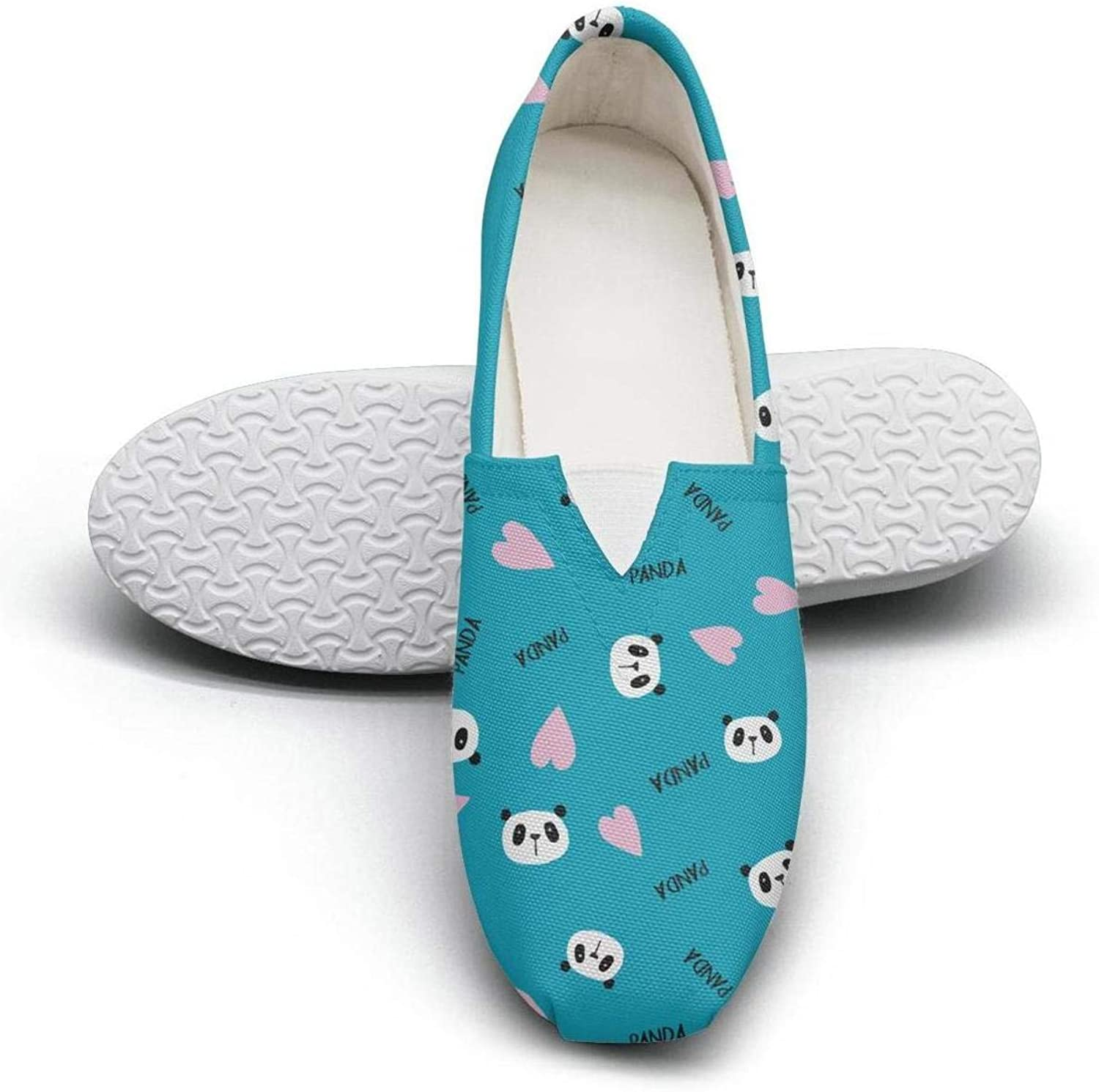 Jawass Teddy Bears Decor Women's Canvas shoes Vintage Slip On Sneaker Low Top