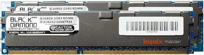 16GB 2X8GB Memory RAM for IBM System xSeries System x3650 M2 (Type 7947) DDR3 ECC Registered RDIMM 240pin PC3-10600 1333MHz Black Diamond Memory Module Upgrade