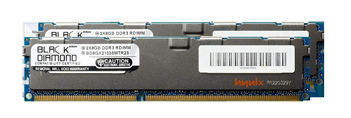 16GB 2X8GB Memory RAM for HP ProLiant Series DL380 G6, DL380 G6 Base, DL380 G6 Entry, DL380 G6 Performance, DL380 G7 240pin PC3-10600 1333MHz DDR3 RDIMM Black Diamond Memory Module Upgrade