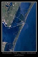 Port Aransas Texas Satellite Poster Map L 24 x 36 inch