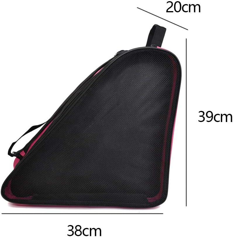 HONUTIGE Roller Skate Bag, Ski Sports Shoulder Oxford Cloth Carry Roller Breathable Triangle Skate Bag, Premium Bag to Carry Ice Skates, Roller Skates, Inline Skates for Kids and Adults (Blue) : Sports & Outdoors