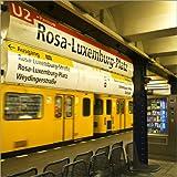Poster 30 x 30 cm: Rosa Luxemburg Platz - U Bahnhof -