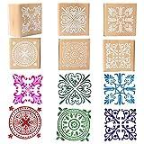 Rubber Stamps Wood Floral Pattern Decorative Craft Stamp for Card Making, Scrapbooking & DIY Craft Designs