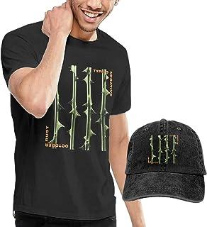 Thimd Camiseta de Manga Corta para Hombre,Gorra de béisbol