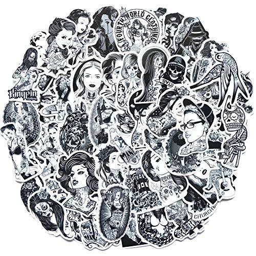 Sexy Girl Graffiti-Aufkleber, 68 Stück Sexy Pin Up Vinyl-Aufkleber für Laptop, Skateboard, Wasserflasche, Gepäck, Auto, Motorrad, Stoßstange, Gitarre, Koffer, Computer, Tastatur, Xbox PS4 (68 Stück)