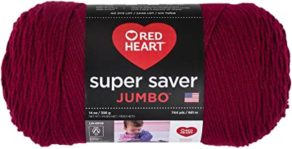 Red Heart 073650013508Super Saver Hilo Jumbo, Burgundy, 1