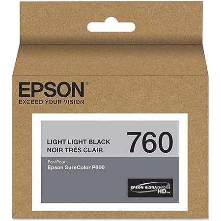 Epson T760920 UltraChrome HD Light Light Black Standard Capacity Cartridge Ink