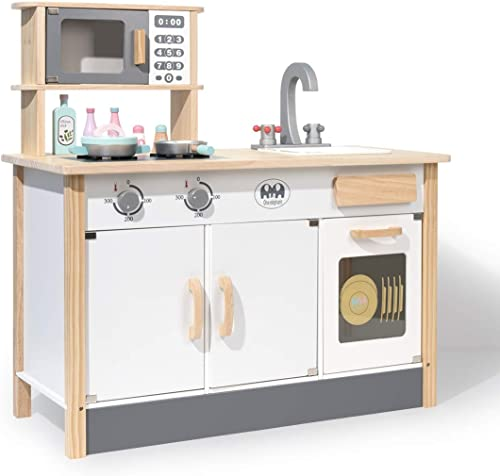wholesale ROBUD Kids lowest Kitchen Playset Wooden Kids Play Kitchen Set Pretend Play Kitchen for Toddlers high quality Girls Boys online sale