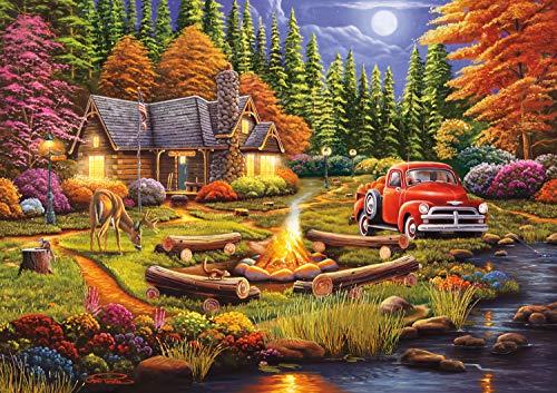 Buffalo Games - Evening at Camp - 500 Piece Jigsaw Puzzle