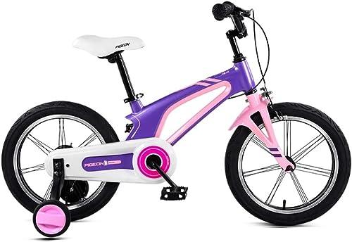 orden en línea Axdwfd Infantiles Bicicletas Bicicleta for Niños con con con Ruedas de Entrenamiento, Marco de aleación de magnesio14   16 Pulgadas, for Niños y niñas de 3-8 años de Edad, Estudiante de Bicicleta  para proporcionarle una compra en línea agradable