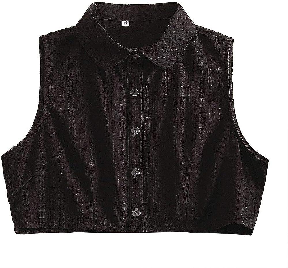 ICSTH Women Faux Collar Dickey Collar Blouse Shirt Detachable Collar