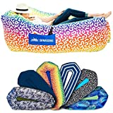 Chillbo Shwaggins Inflatable Couch  Cool Inflatable Chair. Upgrade Your Camping Accessories. Easy Setup is Perfect for Hiking Gear, Beach Chair and Music Festivals. (A Rainbow Swizzle)