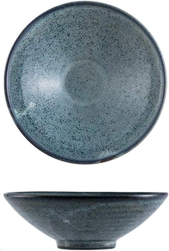 HGXC Bowl European-Style Stoneware Salad Ramen Cash special High material price Retro Fruit