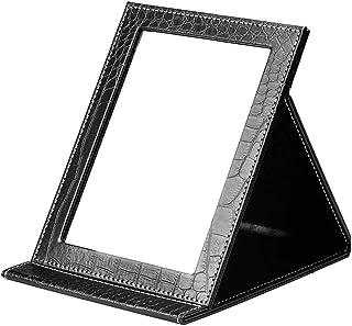 YWSHF 化粧鏡 卓上 折りたたみ式 角度調整可能 持ち運び便利 収納 旅行 女優 スタンドミラー