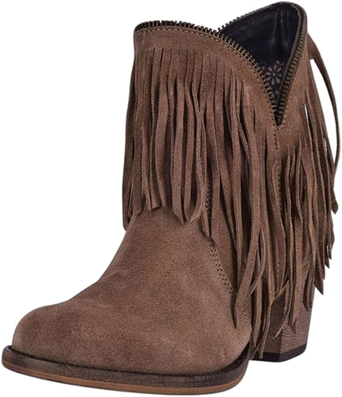 Dingo Fashion Boots Womens 6  Juju Cowboy Heel Suede 6 M Tan DI7454