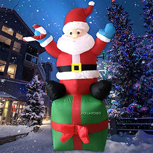 Aquarobo Christmas Lnflatable, Luminous Inflatable Santa Claus, for Indoor and Outdoor Courtyard Garden Christmas Decorations