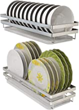 Wall-Mounted | Single-Layer Dish Storage Rack - 304 Stainless Steel - with Separate Drain Pan for Kitchen, Storage