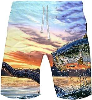 FRAUIT Uomo Pantaloncini da Bagno Costume da Bagno Calzoncini da Spiaggia Mare Piscina Bermuda Pantaloncino Ragazzo Sport ...