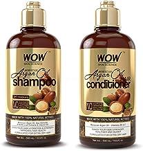 WOW Moroccan Argan Oil Shampoo & Conditioner Set (16.9 Fl Oz Each) - Increase Moisturization, Hydration For Dry, Damaged H...