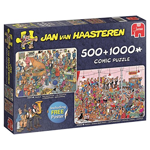 Jumbo 19058 Puzzel Jan Van Haasteren-Let's Party, 500/1000 delen