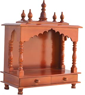 Home Temple/Wooden Temple/Pooja Mandir/Pooja Temple with LED Bulb