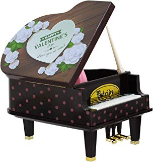 Gabrine Colorful Music Box Classical Grand Piano Shape with Case Melody for Elise Birthday Toy