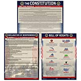 Decorate your classroom or child's bedroom with these Quality historical posters. Charts include US. constitution (15x19), The Bill of Rights (15x19) and Declaration of Independence (18x30). Protected with durable 3 mil laminate and fonts sized for r...