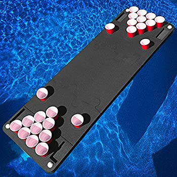 Polar Whale Floating Beer Pong Table Pool Party Float Game and Lounge Durable Foam 6 Feet Long Uv Resistant