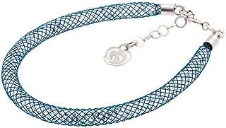 Bracciale Blu in Argento 925 con Cristalli Luminosi Collezione Tennis