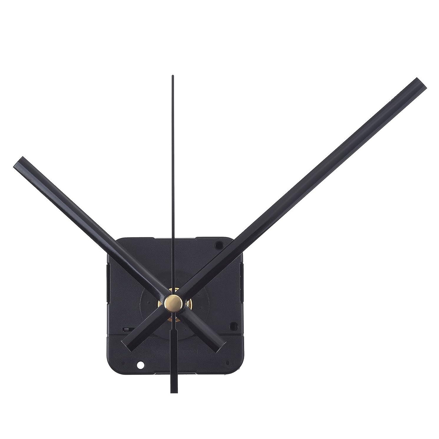 Mudder Long Spindle Quartz Clock Mechanism, 1/ 2 Inch Maximum Dial Thickness, 9/ 10 Inch Total Shaft Length (Black)