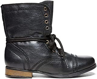 Steve Madden Jtroopa Boot (Little Kid/Big Kid),Black,1 (M) US Little Kid