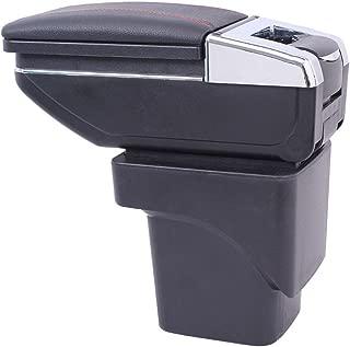 Maiqiken Reposabrazos de Coche para Smart cenicero de Almacenamiento Interior Coche Estilo Decoraci/ón Accesorios Negro
