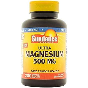 Sundance Magnesium 500 mg Tablets, 200 Count