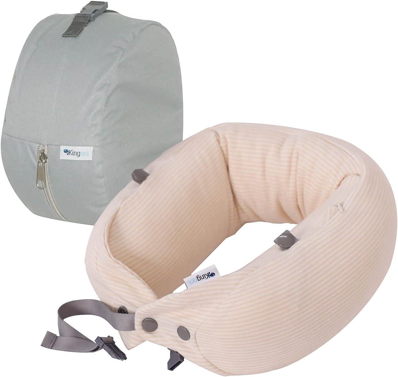 Kingnex Adjustable Travel Pillow for Cheap Support Jacksonville Mall Shredded Neck with