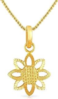 Malabar Gold and Diamonds 22k (916) Yellow Gold Pendant for Women