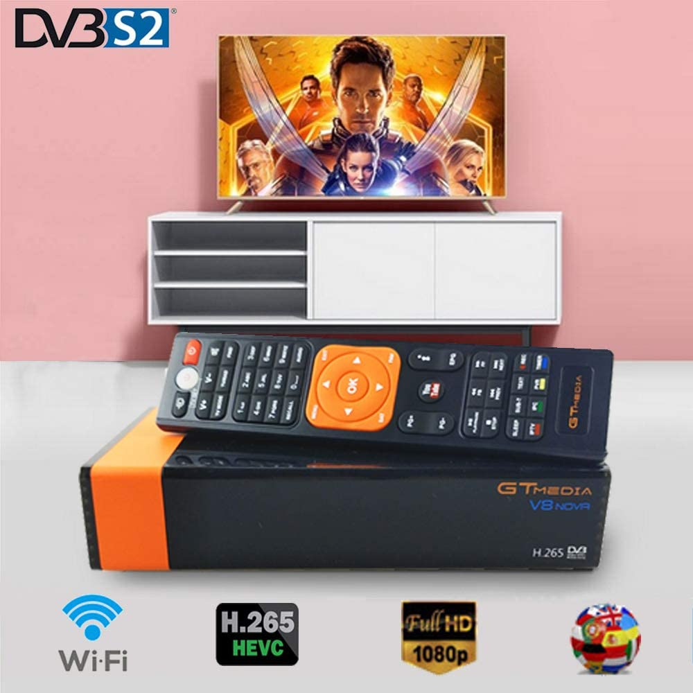 DishyKooker TV S-T-B Set Top Box Digital Converter Box with Recording Media Player TV Tuner Function European regulations Products