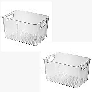 WYJRF Boîte de Rangement pour réfrigérateur,Organisateur frigo,avec poignée,PETboîte de Rangement pour réfrigérateur,artef...