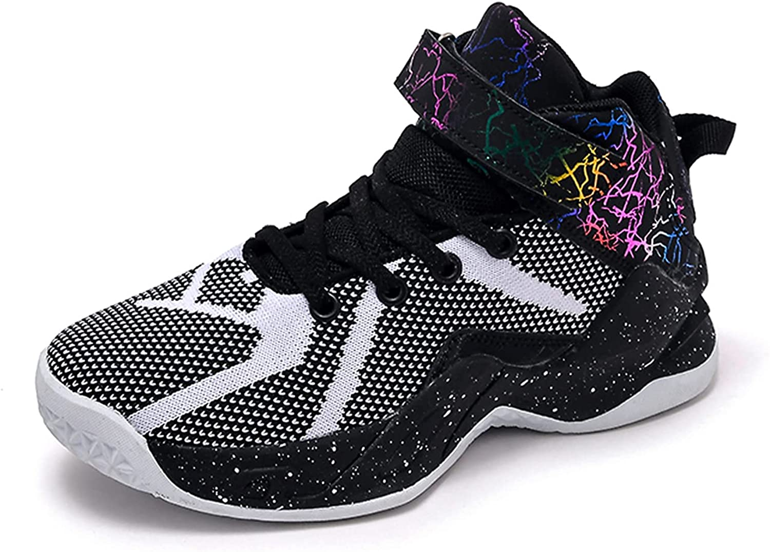 Narstin Kid's Basketball Shoes Outdoor High-Top Sneakers Casual Fashion Running Shoes Comfort Durable Sport Shoes