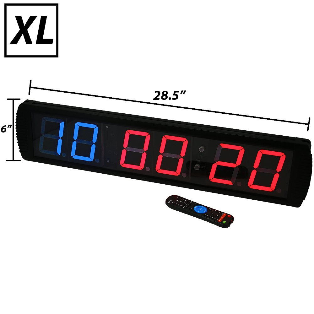 gym timer amazon comsynergee premium led programmable crossfit interval wall timers gym timers with wireless remote tabata,