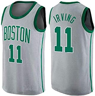 7d3371729199c9 LLZYL Maglie Basket da Uomo - NBA Boston Celtics 11# Kyrie Irving Swingman Magliette  da