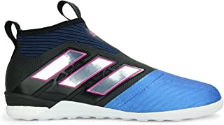 adidas Men's Ace Tango 17+ Pure Control Indoor Soccer Shoes Black/White/Blue Soccer Shoes