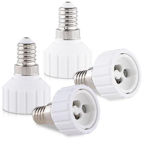 8x Small Edison Screw SES E14 To Bayonet BC B22 Light Bulb Adaptor Lamp Holder
