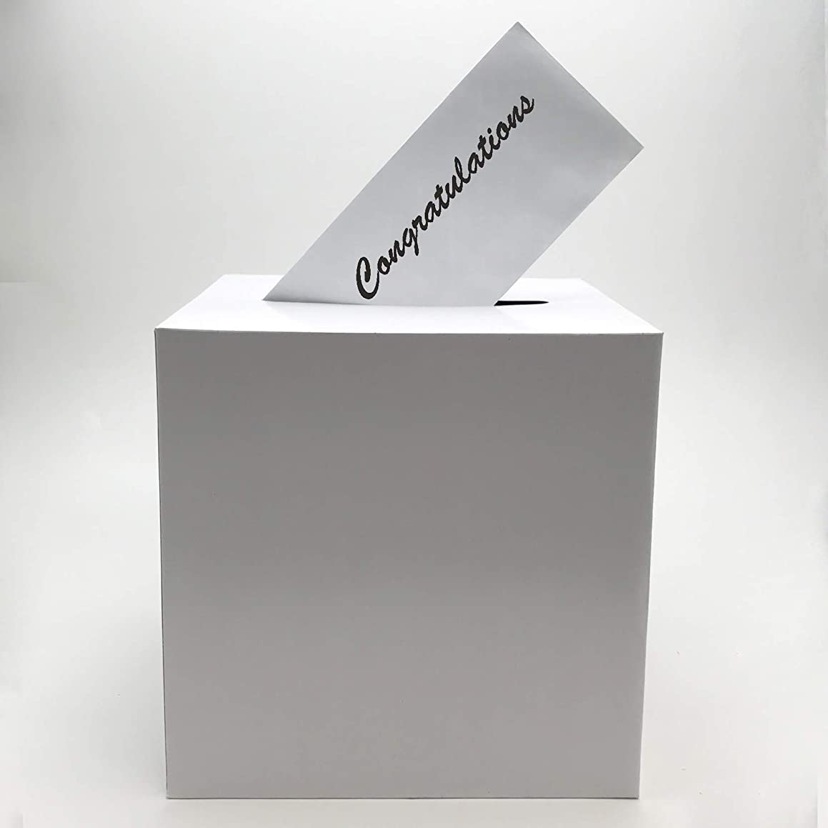 Adorox White Wishing Well Wedding Money Box Memory Cards Reception Centerpiece Box (1 Pc Box)