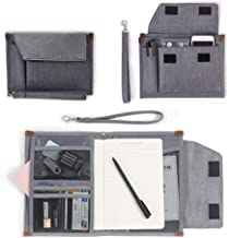 Passport Wallet Holder Multi Pocket-Datei-Aufbewahrungsbeutel Organizer f/ür Office School Travel Multifunktionale A5 Konferenz Ordner Business Organizer Tasche mit Griff Grey