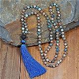 donne meditazione perle collana 8mm natural stone nappa collana nuovo boho lariat mala yoga collana gioielli gioielli
